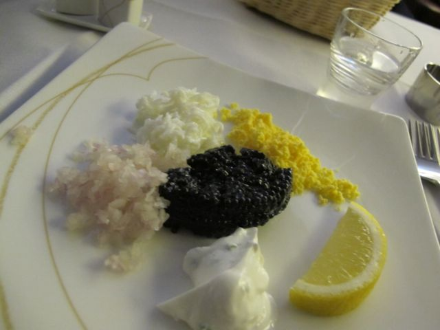 Caviar and... stuff.